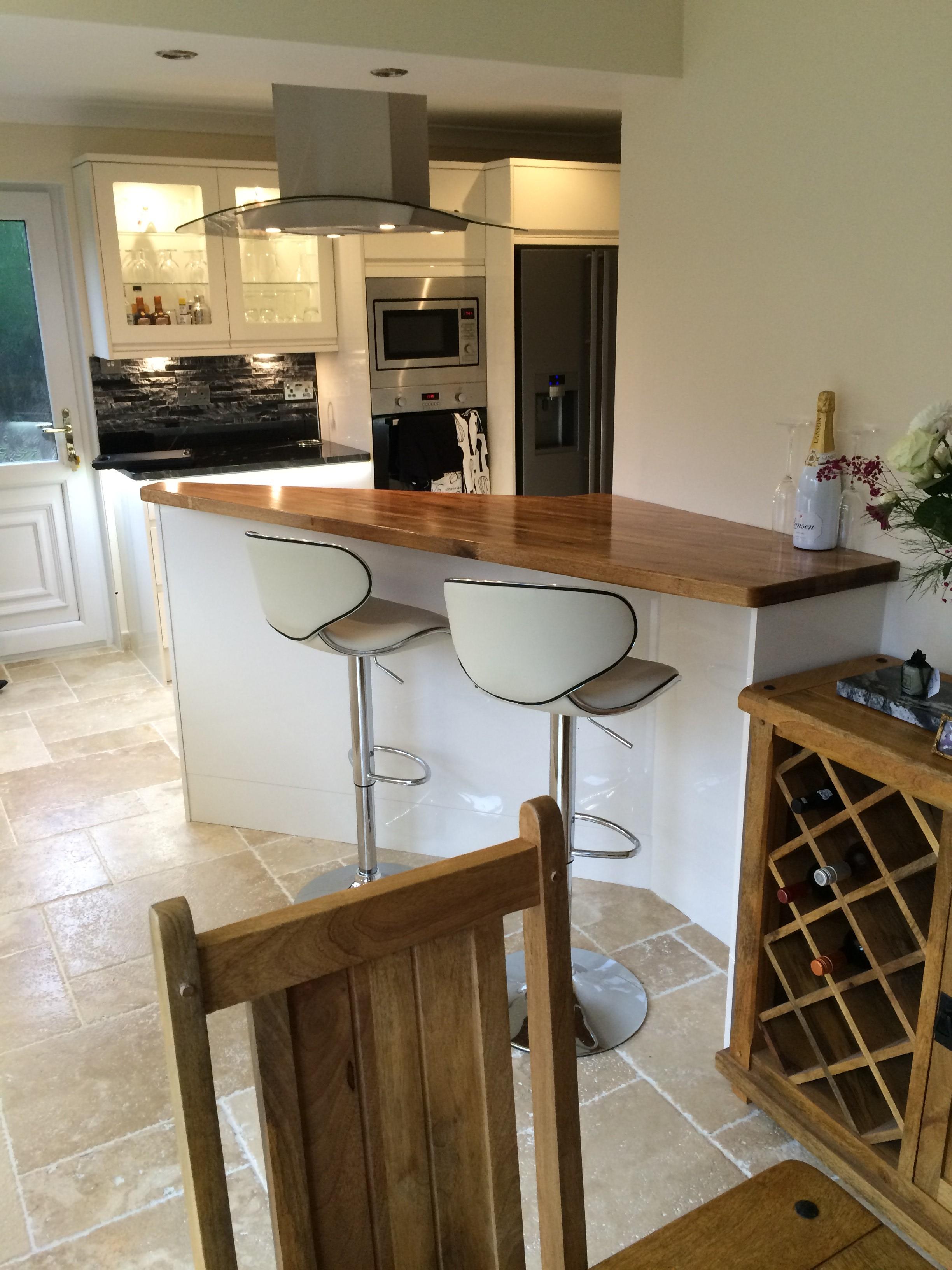 Kitchen Unit Led Lights Kitchen New Forrest Black Granite On High Gloss White Units With